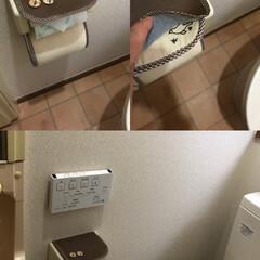 ペーパーホルダー/トイレ/リフォーム/ハンドメイド 年末にトイレのリフォームをしました。超シ…