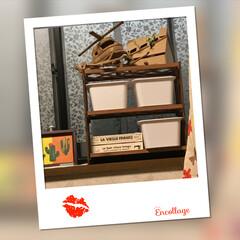キャンドゥ蓋つきBox/アフリカ土産のヘリコプター/夏休みの宿題貯金箱/DIY すのことラティスで棚作ってみました。 ラ…