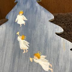 トールペイント 裏側。 我が家の天使が3人だった頃の作品…