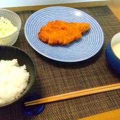 アラビア 24h Avec プレート 20cm ブルー ARABIA 8284 | アラビア(皿)を使ったクチコミ「今日の晩ごはん。 今日はガツンと食べたく…」