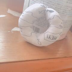 古着リメイク/再利用/赤ちゃん用品/赤ちゃんのいる生活/手作り/裁縫/... 赤ちゃんのニギニギオモチャです✨  次男…(1枚目)