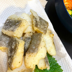 おうち時間/揚げ物料理/島らっきょう/島らっきょうの天ぷら/揚げ物/おうちごはん/... 最近ハマっている、フライパンに少量の油で…(2枚目)