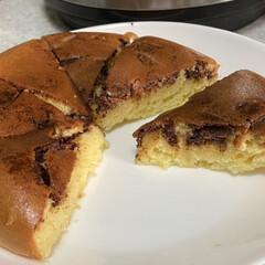 クッキングプロ シルバー   ショップジャパン(電気圧力鍋)を使ったクチコミ「息子がケーキ食べたいと、言うので作りまし…」(5枚目)