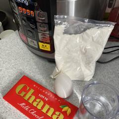 クッキングプロ シルバー   ショップジャパン(電気圧力鍋)を使ったクチコミ「息子がケーキ食べたいと、言うので作りまし…」(1枚目)