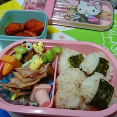 幼稚園弁 今日はミニ🍙。