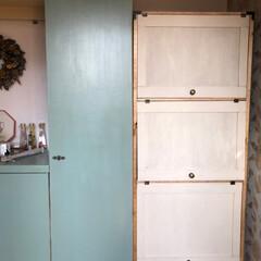 棚/diy girl/久し振りの大物/肩痛い 久し振りの大物DIY 玄関に棚を作りまし…