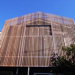 木ルーバー/庭・ガーデニングリフォーム/木/レッドシダー 2階バルコニーの木ルーバー