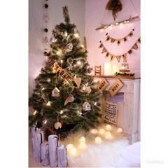 クリスマス/chistmas/クリスマスツリー/マントルピース/流木/マントルピースDIY/... ナチュラルクリスマスがテーマで飾り付けま…
