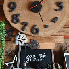 時計DIY/端材/丸太/DIY/わたしの手作り 連投失礼します!  本物丸太の端材を手に…