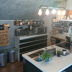 LIXILキッチン/ガス管風ライト/男前/キッチン雑貨/キッチン/リフォーム ソファからみるキッチンが好き❤  ガス管…