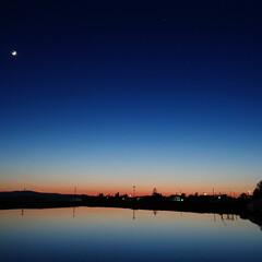 夕焼け景色/夜配達/仕事/令和の一枚/風景/おでかけワンショット 投稿した写真…サイズちっちゃーなってて綺…