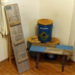 リメイク/インテリア/手作り/ブックスタンド/ベンチ椅子/ペール缶/... 昔作った流木のブックスタンドと流木を少し…