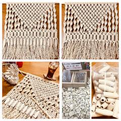 タペストリー/マクラメ編み/ハンドメイド 今日は仙台も夜から雪雪雪雪 仕事も早く終…