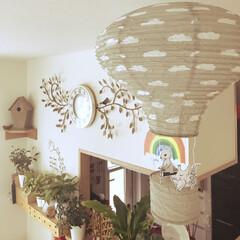 気球ペーパーモビール/インテリア 今日は天気もイイから 気球で♡お部屋探索…