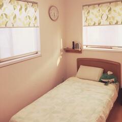 ベッドメイキング 息子の部屋(^^)夏バージョン🌞淡い色合…