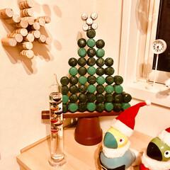 完成/手作りクリスマスツリー/DIY/雑貨/インテリア 苦節8日間(´༎ຶོρ༎ຶོ`) やっと…