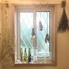 ガラス小物/富良野ラベンダードライフラワー/かすみ草ドライフラワー/手作りハーバリウム 光✨と手作りハーバリウム💕ドライフラワー…