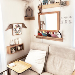 カリモク/壁に付けられる家具/バーズワーズ/カイボイスン/リビング/無印良品/... リビングの寛ぎスペース Daytime …