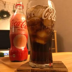 ソリャ試します/コカ・コーラ ピーチ/新製品 頑張った自分にご褒美❣️ コカ・コーラ✨…