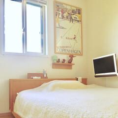 パパの寝室 パパのベッドルーム 気持ち良く✨ 朝が迎…