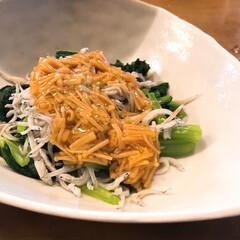 簡単料理 小松菜&しらす干し&なめ茸=iemoの逸…