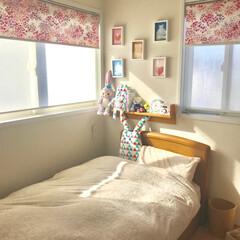 娘の部屋/ベッドメイキング/インテリア 娘の部屋 今日は休日♡お天気も良く 家事…