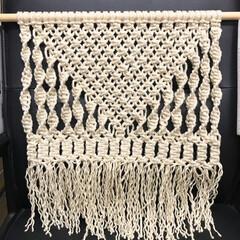手作りタペストリー マクラメ編みタペストリー作ってみました♡…