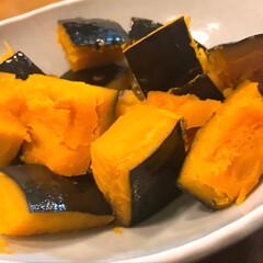 煮崩れせずにできたので 北海道産 かぼちゃの煮物 我が家では ご…