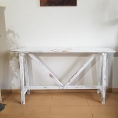 エイジング/コンソールテーブル/テーブル/ハンドメイド/家具/住まい/... コンソールテーブルが出来ました  花や雑…(7枚目)