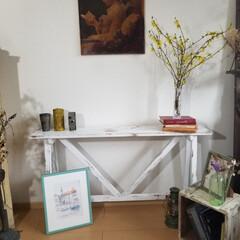 エイジング/コンソールテーブル/テーブル/ハンドメイド/家具/住まい/... コンソールテーブルが出来ました  花や雑…(2枚目)