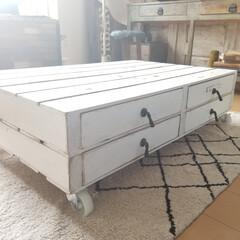 テーブル/収納/DIY/住まい/ファッション パレット風 アンティークテーブル