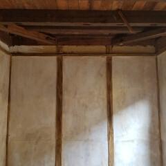 エイジング塗装/マイルームリノベーション/リノベーション/リノベ/ハンドメイド/住まい/... 和室の壁をペイント✋✋✋ ペイントだけの…