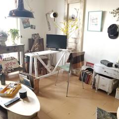 リビング/テーブル/デスク/ベンチ/棚/テレビボード/... 春らしいコーディネート 花やグリーンが楽…(1枚目)
