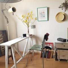 リビング/テーブル/デスク/ベンチ/棚/テレビボード/... 春らしいコーディネート 花やグリーンが楽…(6枚目)