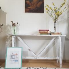 エイジング/コンソールテーブル/テーブル/ハンドメイド/家具/住まい/... コンソールテーブルが出来ました  花や雑…(8枚目)