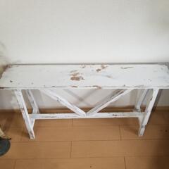 エイジング/コンソールテーブル/テーブル/ハンドメイド/家具/住まい/... コンソールテーブルが出来ました  花や雑…(5枚目)