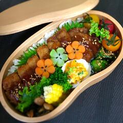 曲げわっぱ/お弁当 今日のお弁当😊