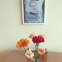 オーサムストア/ティッシュケースリメイク/IKEA/DIY/100均/セリア/... 少し前のpic… 末娘の斬新な活花♡ い…