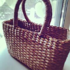 アンティーク/カゴバッグ/雑貨 子ども用のカゴバッグ。 私が2歳の頃、両…