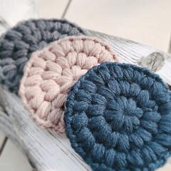 洗剤いらず/エコたわし/アクリルたわし/ハンドメイド/キッチン/雑貨/... アクリルたわし、いろいろ。 編み方を変え…