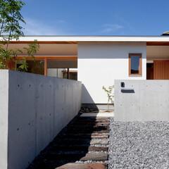 住まい/建築/通り土間/土間/中庭/コートハウス/... 通り土間に繋がるアプローチ