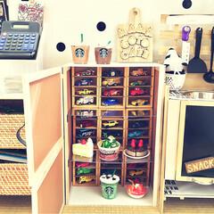 手作りおままごとキッチン/電動ドライバー不要/タッカー/DIY女子/子供部屋/おもちゃコーナー/... 3歳の息子からのリクエストでおままごと用…