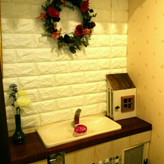 芳香剤カバー/トイレ/DIY/100均/セリア おうちの形の芳香剤カバーをDiy!