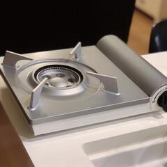 Iwatani カセットコンロ カセットフー エコプレミアム CB-ECO-PRW イワタニ 岩谷 | カセットフー(カセットコンロ)を使ったクチコミ「IHしか持っていなくてカセットコンロが欲…」(1枚目)