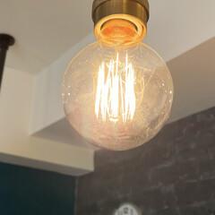 インテリア/間接照明/おしゃれ/ルームライト/エジソン電球/フィラメント電球/... ダイニングの中途半端なところに引掛シーリ…(2枚目)