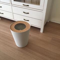 トラッシュカン リン 丸型 ナチュラル | 山崎実業(ゴミ箱、ダストボックス)を使ったクチコミ