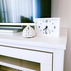 モノトーンインテリア/目覚まし時計/置き時計/駅の時計/インテリア/雑貨/... 無印良品の、その名も『駅の時計』。文字盤…