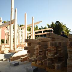土壁/石場建て/伝統工法 差し鴨居の建て方