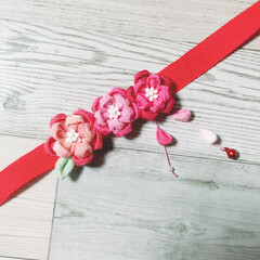 ヘアアクセサリー/お正月/ちりめん細工/ファッション/ハンドメイド 友人のお子様への贈り物🎁 小さいお子様だ…
