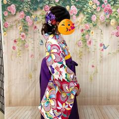 袴姿/卒業式 今日は娘の卒業式。 コロナの影響で時間も…